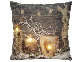Polštář CHRISTMAS LIGHT 01 MyBestHome 40x40cm vánoční motiv - svítící polštářek