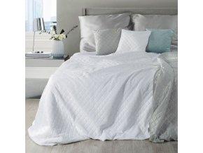 Přehoz na postel NATANA 200x220 cm bílá/stříbrná Mybesthome