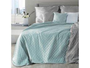 Přehoz na postel NATANA 200x220 cm tyrkysová/stříbrná Mybesthome