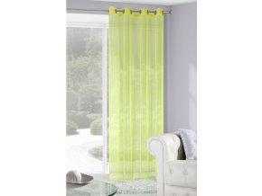 Dekorační síťovaná vzorovaná záclona LUCERA limonka 140x250 cm MyBestHome