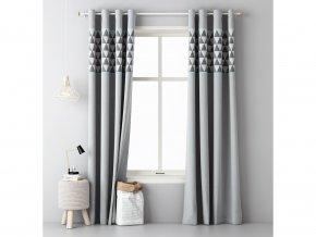 Dekorační závěs AKRANES šedá/mátová 140x250 cm MyBestHome