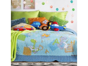 Přehoz na postel FUNNY 170x210 cm modrá Mybesthome