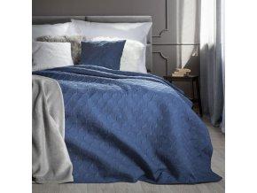 Přehoz na postel SERAFINA 220x240 cm modrá Mybesthome