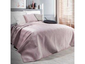 Přehoz na postel SOPHIA 200x220 cm růžová Mybesthome