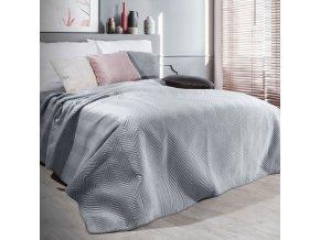 Přehoz na postel SOPHIA 200x220 cm stříbrná Mybesthome