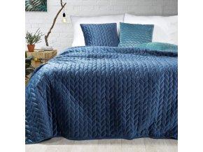 Přehoz na postel EMILY 200x220 cm tmavě modrá Mybesthome