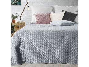 Přehoz na postel EMILY 200x220 cm stříbrná Mybesthome
