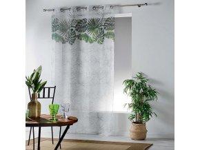 Dekorační záclona GREEN 01 se vzorem s kroužky 140x240 cm MyBestHome