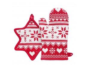 Kuchyňský set rukavice/chňapka SCANDER, 18x30 cm/24X21 cm HOME & YOU, 100% bavlna