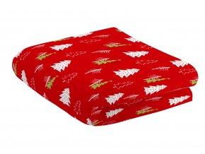 Deka z mikrovlákna FOREST červená motiv C 150x200 cm Essex