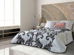 Přehoz na postel CLAUDIA 220x240 cm černá/stříbrná Mybesthome