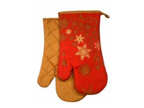 Kuchyňské rukavice chňapky RIVANDEL, červená 18x30 cm Essex