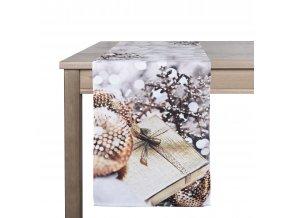 Ubrus - běhoun na stůl PHOTO DEKOR, 35x180 cm, motiv C, ESSEX