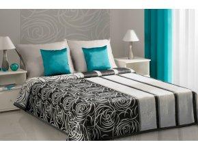 Přehoz na postel ROBERTA 220x240 cm černá Mybesthome
