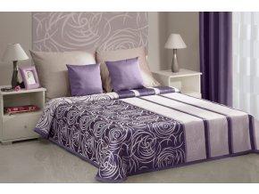 Přehoz na postel ROBERTA 220x240 cm fialová Mybesthome