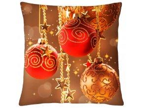 Polštář CHRISTMAS BALLS Mybesthome 40x40 cm