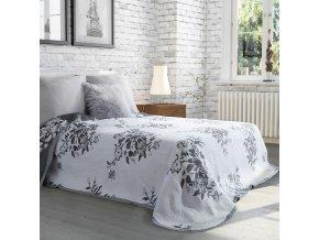 Přehoz na postel AMALIA 220x240 cm bílá/stříbrná Mybesthome