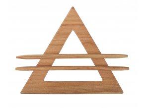 Dekorační ozdobná spona na závěsy z přírodního dřeva ALIDA, světle hnědá, 21x21x21 cm Mybesthome