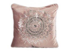 Polštář MANDALA růžová 45x45 cm Mybesthome