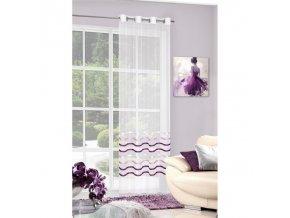 Dekorační záclona ARMINA krémová/fialová 140x250 cm MyBestHome