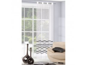 Dekorační záclona ARMINA krémová/šedá 140x250 cm MyBestHome