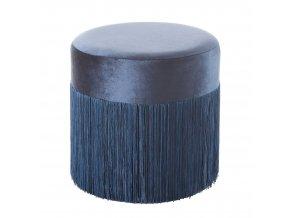 Taburet MALIBU modrá 37x36 cm MyBestHome