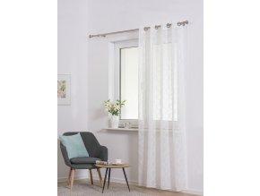 Dekorační luxusní záclona CASABLANCA bílá 140x250 cm MyBestHome