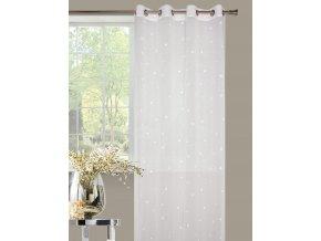 Kvalitní hotová dekorační záclona vyrobená v moderním a trendovém provedení do ložnice nebo obývacího pokoje o rozměru 140x250 cm s kroužky pro tyčovou gárnyž.