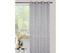 Dekorační vzorovaná záclona AMARE šedá 140x250 cm MyBestHome