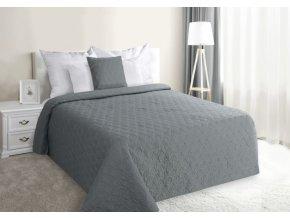 Přehoz na postel ZLATAN 220x240 cm šedá Mybesthome
