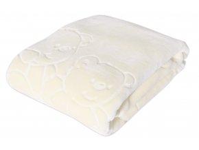Dětská deka MARIBEL smetanová 80x110 cm španělská akrylová deka Mybesthome