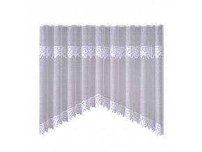 Dekorační oblouková krátká záclona SZLACZEK bílá 300x150 cm MyBestHome