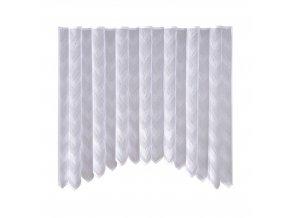 Dekorační oblouková krátká záclona FALE bílá 300x150 cm MyBestHome