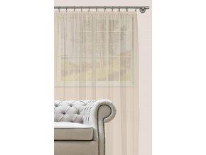 Dekorační záclona s řasící páskou DIANA smetanová 300x280 cm MyBestHome