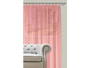 Dekorační záclona s řasící páskou DIANA růžová 400x260 cm MyBestHome