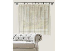 Dekorační krátká záclona s řasící páskou DIANA smetanová 300x160 cm MyBestHome