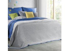 Přehoz na postel JOSHUA 220x240 cm stříbrná/granátová Mybesthome