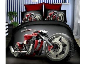 Povlečení CHOPPER BIKE III. 3D set 3 ks, 1x 160x200 cm, 2x povlak 70x80 cm MyBestHome