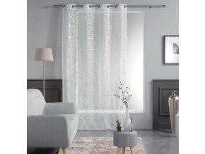 Dekorační záclona CASTELLON bílá se vzorem s kroužky 140x240 cm MyBestHome