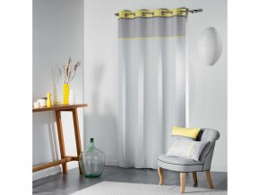 Dekorační závěs RIVERA šedá/žlutá 140x260 cm MyBestHome