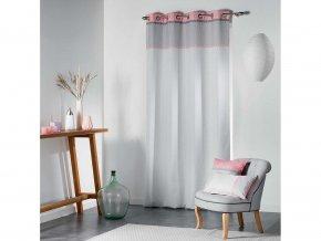 Dekorační závěs RIVERA šedá/růžová 140x260 cm MyBestHome