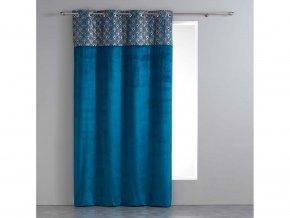 Dekorační závěs IGNACIO modrá/zlatá 140x240 cm MyBestHome