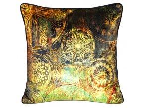 Polštář INCA zlatá 45x45 cm Mybesthome