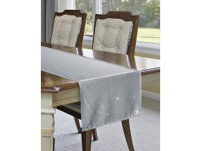 Ubrus - běhoun na stůl SHEILA šedá 40x180 cm, Mybesthome
