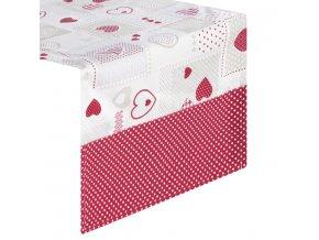 Ubrus - běhoun na stůl HEART 40x140 cm, Mybesthome