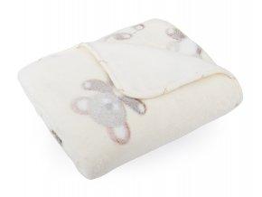 Dětská deka EMMA smetanová motiv medvídek 80x90 cm Mybesthome