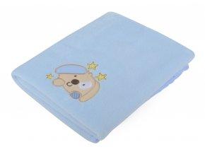 Dětská deka s aplikací DITA modrá 80x90 cm Mybesthome