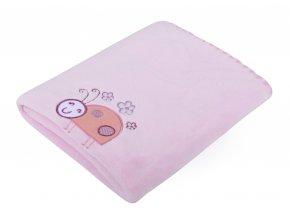 Dětská deka s aplikací DITA růžová 80x90 cm Mybesthome