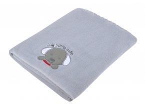 Dětská deka s aplikací DITA stříbrná 80x90 cm Mybesthome