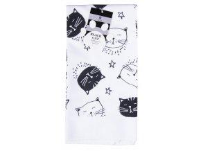 Utěrka BLACK CAT motiv B mikrovlákno 38x63 cm, Essex